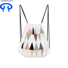 Wholesale Price China for Cotton Cloth Bag Drawstring Custom trip drawstring pocket canvas backpack supply to Philippines Manufacturer