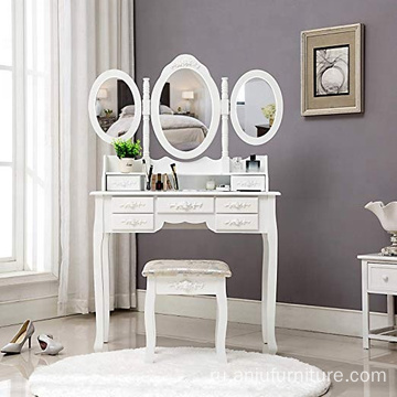3 Mirrors Vanity Wardrobe Dressing Table Designs