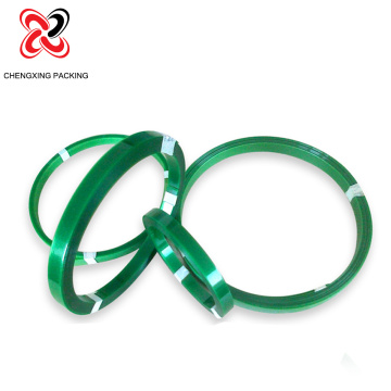 Green Embossed Polyester PET Plastic Strips for Packaging