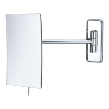 Single arm frameless wall mirror