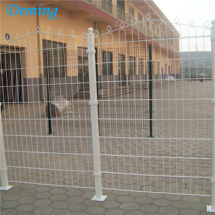 PE Coated Newest Design Metal Prestige Double Wire Fence