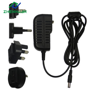 Personlized Products for Power Plug Adapter,Multiple Plug Adapter,Power Adapter Manufacturers and Suppliers in China 24V 500ma 12w Constant voltage interchangeable AC adapters supply to India Factories