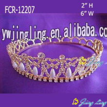 Full Round Pageant Pearl Crowns