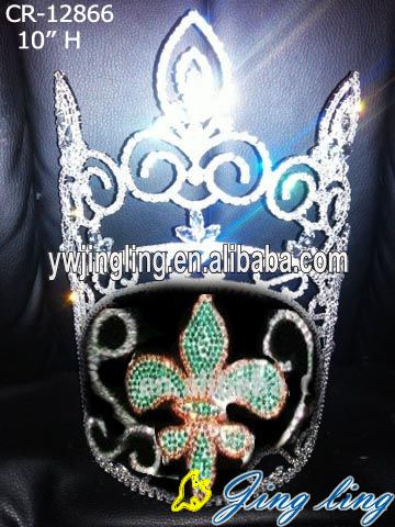 10 Inches Silver Plated Crown Tiara Bridal