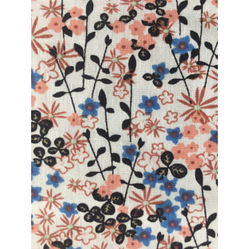 Flower Design Rayon Poplin shuttle 45S Printing Fabric
