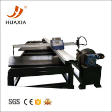 CNC plasma cutter cutting sheet with pipe cutting
