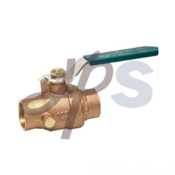 Bronze solder ball valves with drain