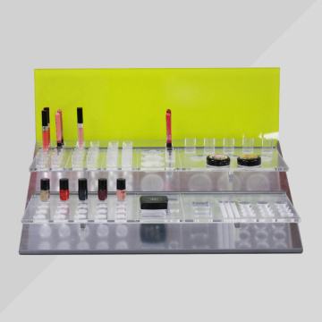 Clear Makeup Counter Top Display Stand