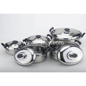 5-Piece Multiclad hindi kinakalawang na Steel Stainless Cookware