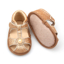 Good Quality for China Baby Leather Baby Sandals Slippers Factory | Babyshoes.cc New Fashion Styles Fancy Baby Glitter Sandals supply to Portugal Manufacturers