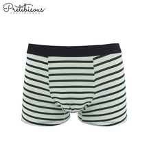 Microfiber stripe mens underwear boxer shorts briefs