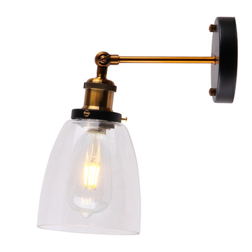Glass Wall Light Antique Balcony Edison Bulb Lamps