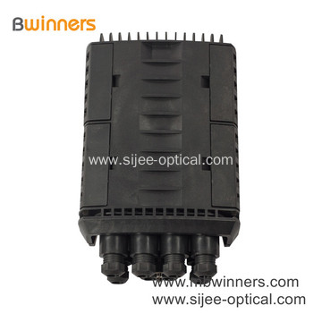288 Cores Horizontal Type 4 Inlets 4 Outlets Outdoor Wall Mounting Fiber Optical Splice Closure