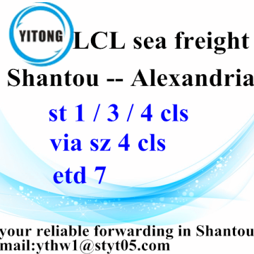 Good Quality for LCL Consolidators Shantou Consolidation Sea Freight Services to Alexandria supply to Russian Federation Factory
