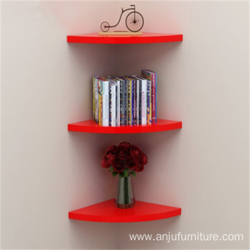 Solid Wood or MDF  Sector Wall Shelf Corner Partition