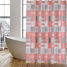 China for Shower Curtain Liner Shower Curtain PEVA Pink Square supply to Algeria Factories