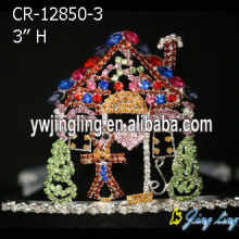 Fashion Colorful Stone Party Holiday Crown