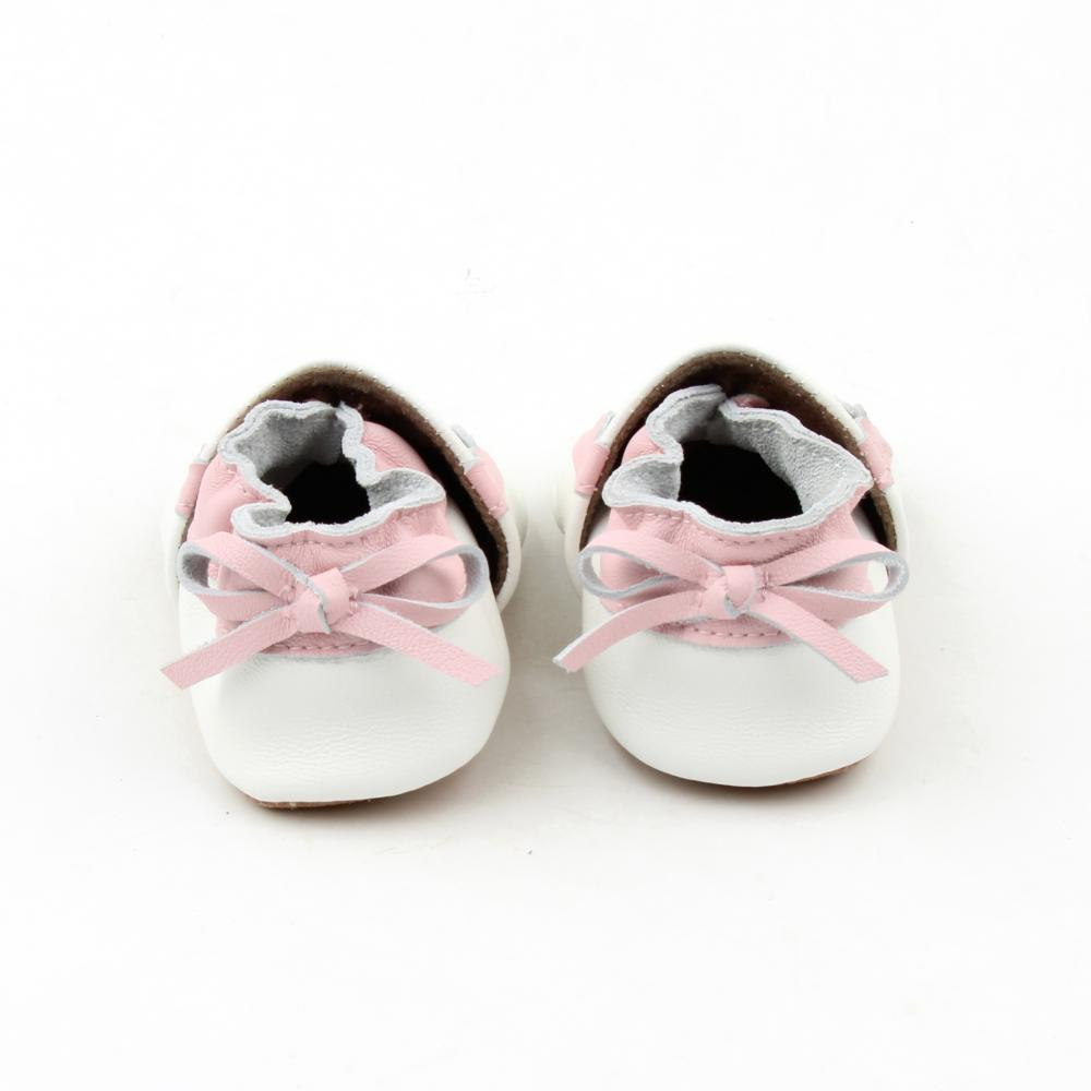 New Design Pink Lacework Baby Soft Leather Shoes