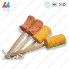 Smooth Brush Sponge With Wooden Stick