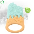 Best Quality Ice cream Shaped Silicone Food Teether