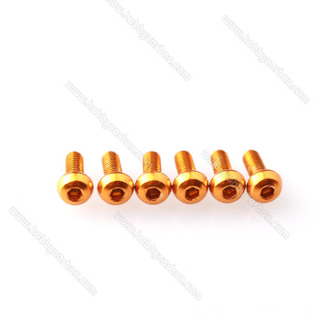 M3 Anodized 7075 Aluminium Round Hex Head screws