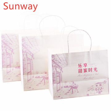 Personalized kraft shopping paper bags