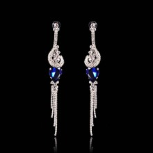 Vintage Purple Crystal Drop Earrings For Women