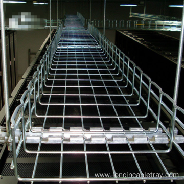 Hanging Wire Mesh Cable Tray with bracket