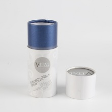 Logo Printed Round Paper Cosmetic Tube Packaging Box