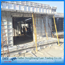 Light Weight Aluminum Formwork System for Walls