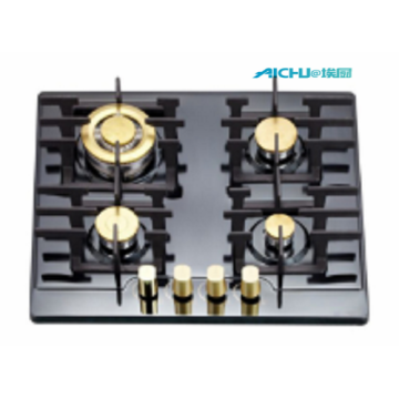 4 Burners Stainless Steel Coloured Gas Hobs