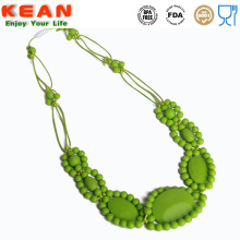Hot Selling for Baby Rattle Silicone Teething Necklace Charming chewable baby teething necklace silicone export to South Korea Factories