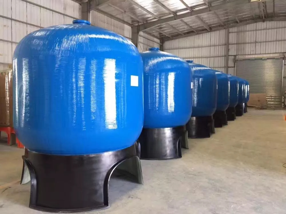 FRP vessels for water soften