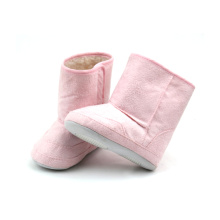 Top for Baby Boots Moccasins Wholesales Cute Pink Leather Baby Girls Boots export to Spain Factory