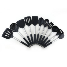 factory low price Used for Silicone Cooking Utensils Tool Set 11pcs nonstick silicone kitchen utensils cooking set export to Italy Supplier