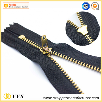 No.3 Double Lock Metal Zipper in Brass
