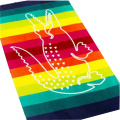 Stripes Microfiber Hooded Poncho Beach Towel For Adults
