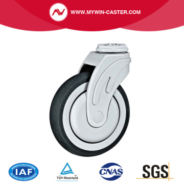 Bolt Hole Swivel TPR Medica Caster