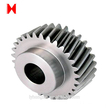 Hypoid bevel shape and steel material spiral gear