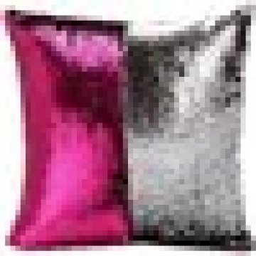 Magical sequin pillow cover with changing reversible