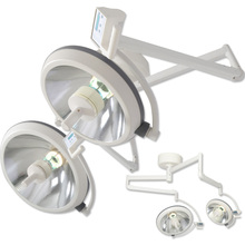 High Quality Industrial Factory for Double Dome Halogen Operating Light Overall Medical Surgical Operating Shadowelss Lamp supply to Tokelau Factories