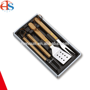 3pcs Wooden Handle Barbecue Tools Set