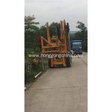 Intelligent highway guardrail drilling pile driver
