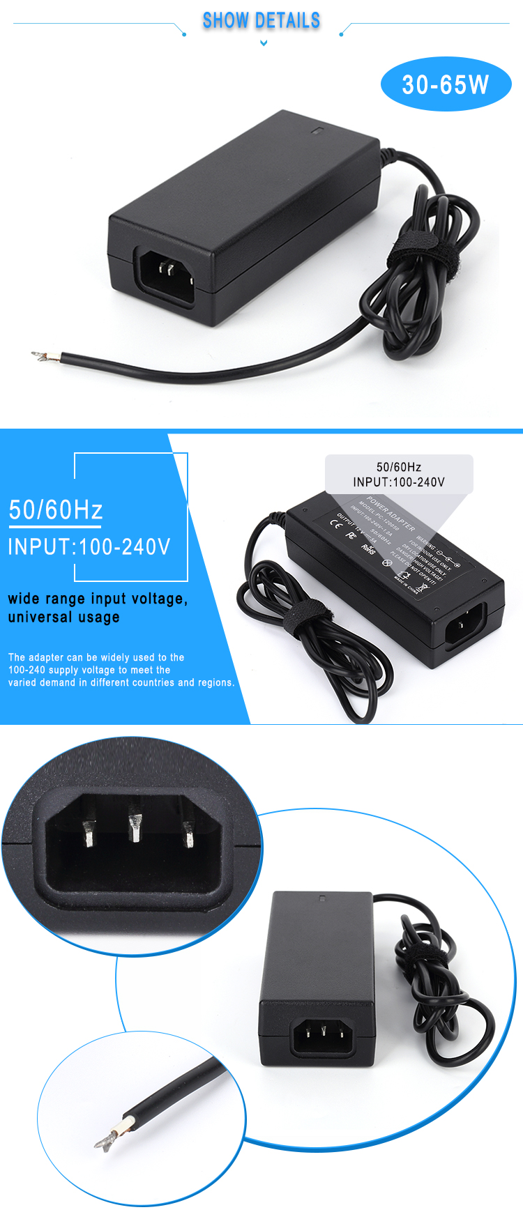 19V laptop ac power adapter