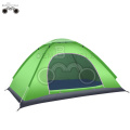single door green camping tent for 1-2 person