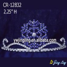 China Top 10 for Snowflake Round Crowns Holiday Snowflake Christmas Tiaras export to Sierra Leone Factory