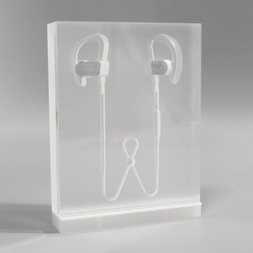 Custom clear acrylic headphone display stand
