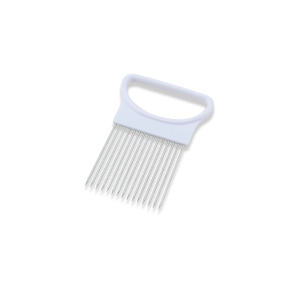 Plastic and Stainless Steel Onion Slicer Holder