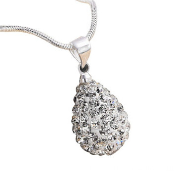 ODM for Shamballa Necklace For Men 925 Silver Drop Shape Shamballa Pendant Necklace For Women export to Kenya Factory
