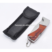 Pakka Wood Pocket Knife With Nylon Bag